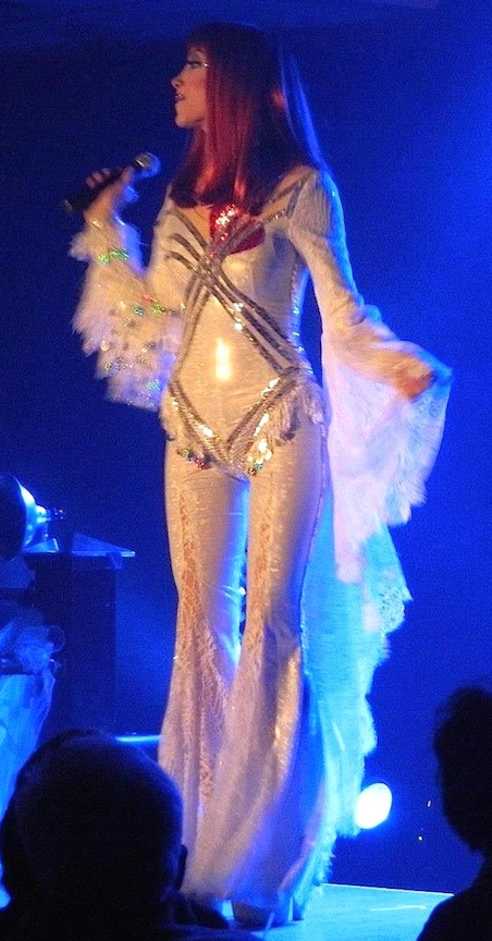 BETTY-ATCHISON-AS-CHER-BELIEVE-STAGE-PERFORMANCE