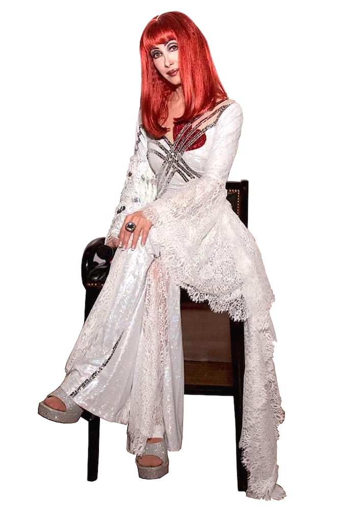 CHER IMPERSONATOR  BETTY ATCHISON-BELIEVE COSTUME RE-CREATION FROM CHER'S FAREWELL TOUR