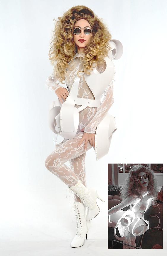 BETTY AS LADY GAGA - BUBBLE DRESS
