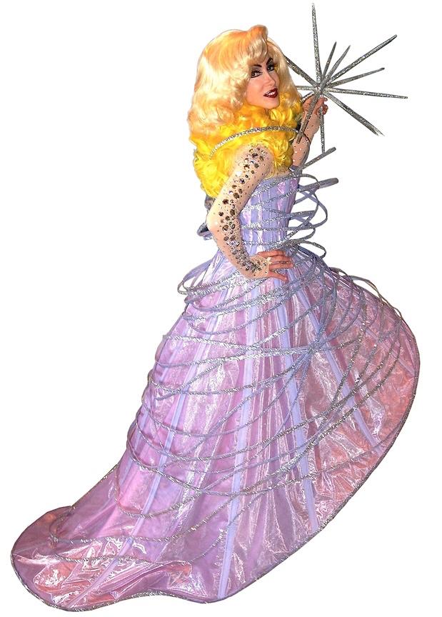 LADY-GAGA-IMPERSONATOR- LADY GAGA 2010 GRAMMY AWARDS GALAXY DRESS RECREATION