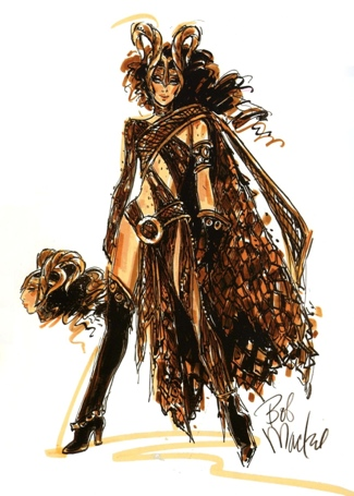 Bob Mackie Sketch_Love Is A Battlefield
