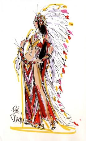 Bob Mackie Sketch_Half Breed