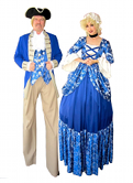 COLONIAL LADY AND GENT BY STILT PROS