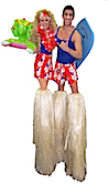 Surfer Dude and Beach Babe by Stilt Pros