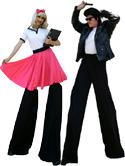50's Style Stilt Walkers by Stilt Pros