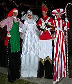 CHRISTMAS STILT WALKERS BY STILT PROS
