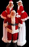 Santa Baby Stilt Walkers by Stiltpros