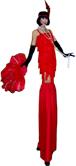 SPEAKEASY FLAPPER GIRL STILT WALKER BY STILT PROS