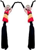 Go-Go Girl Stilt Walkers by Stilt Pros