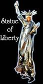 STATUE OF LIBERTY STILT WALKER