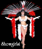 Showgirl Stilt Walkers by Stilt Pros