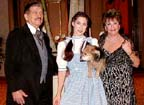 Dorothy and Toto with Clark and Liz